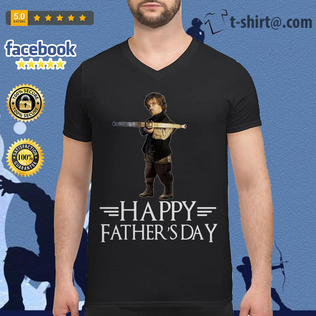 Tyrion Lannister happy fathers day V-neck T-shirt