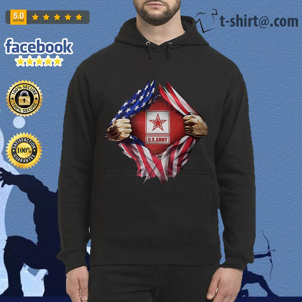 U.S.Army blood inside me 4th of July independence day Hoodie