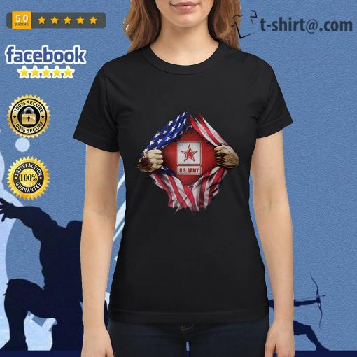 U.S.Army blood inside me 4th of July independence day Ladies Tee