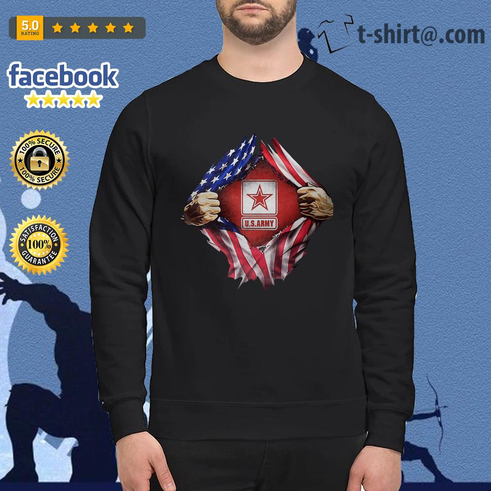U.S.Army blood inside me 4th of July independence day Sweater