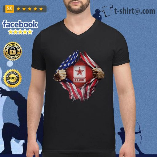 U.S.Army blood inside me 4th of July independence day V-neck T-shirt