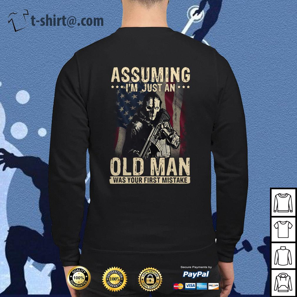 Veteran soldier assuming I'm just an old man was your first mistake Tank top
