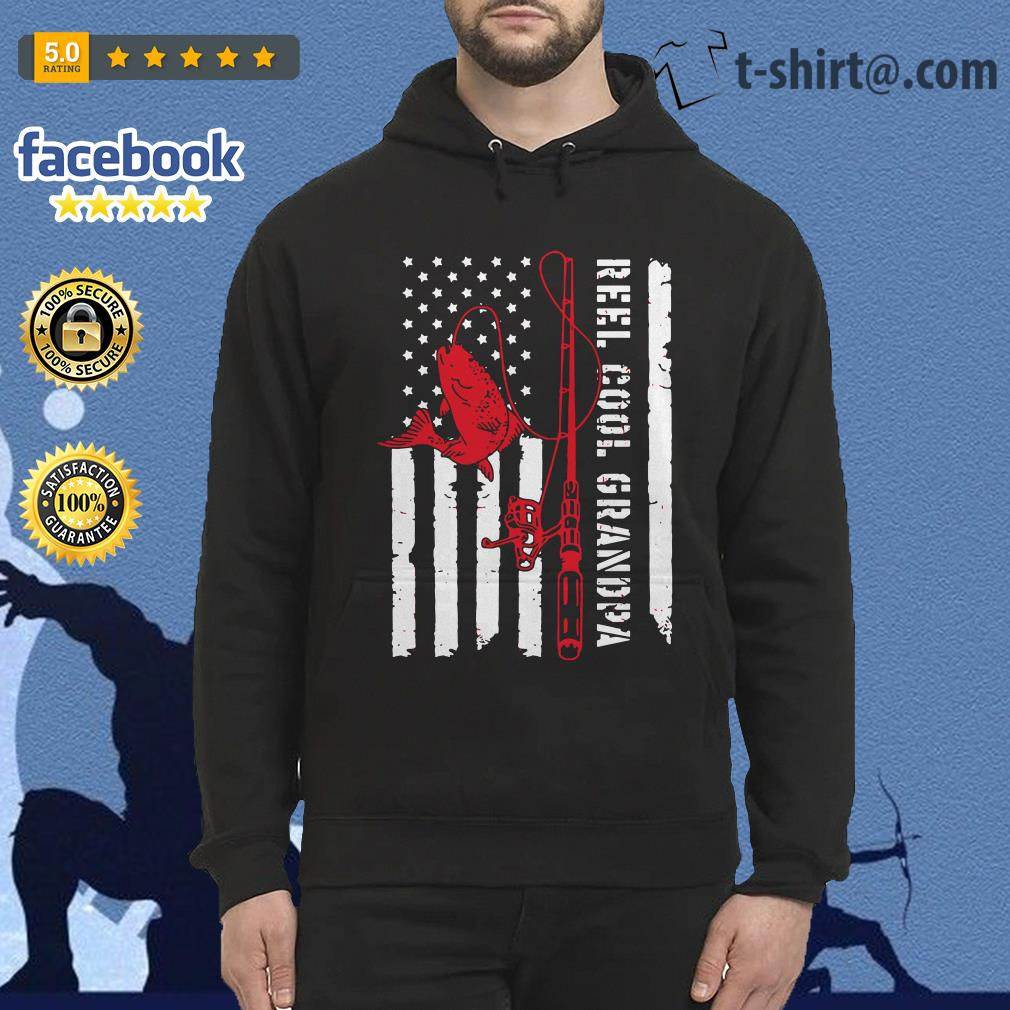Veterans fishing reel cool grandpa father's day Hoodie
