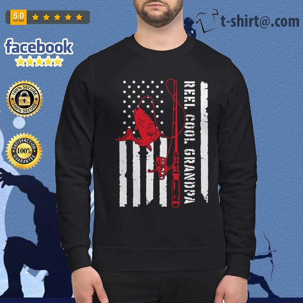 Veterans fishing reel cool grandpa father's day Sweater