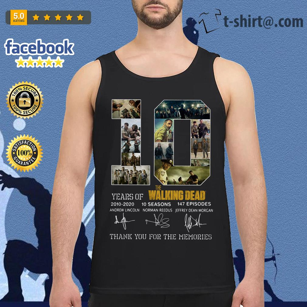 10 Years of The Walking Dead 2010-2020 10 seasons 147 episodes signatures Tank top