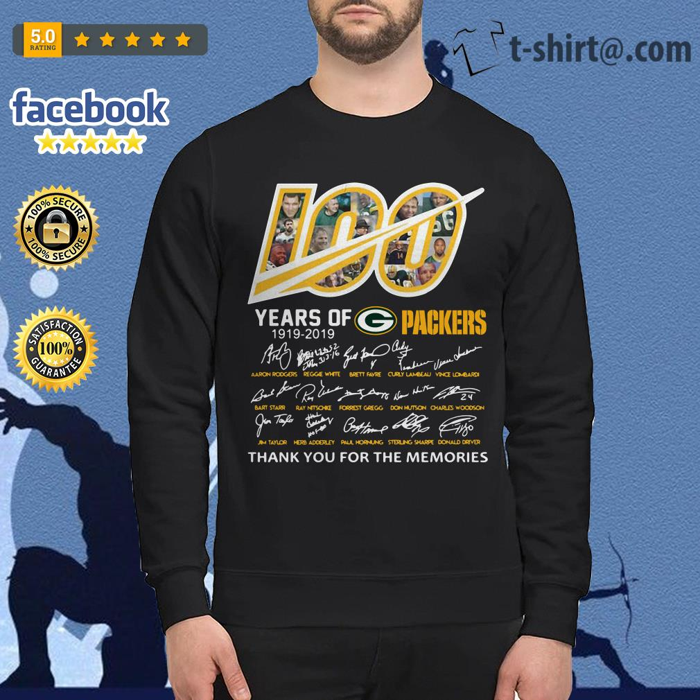 100 Years of Green Bay Packers 1919-2019 signatures Sweater
