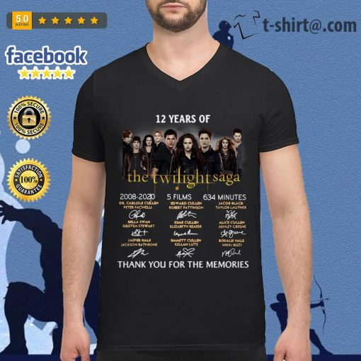 12 Years of The Twilight Saga 2008-2020 5 films 634 minutes signatures V-neck T-shirt