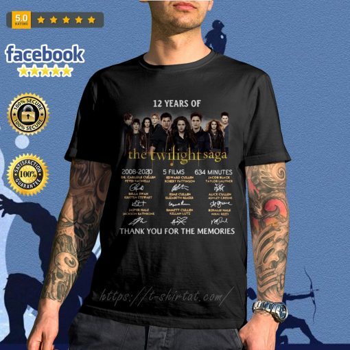 12 Years of The Twilight Saga 2008-2020 5 films 634 minutes signatures shirt