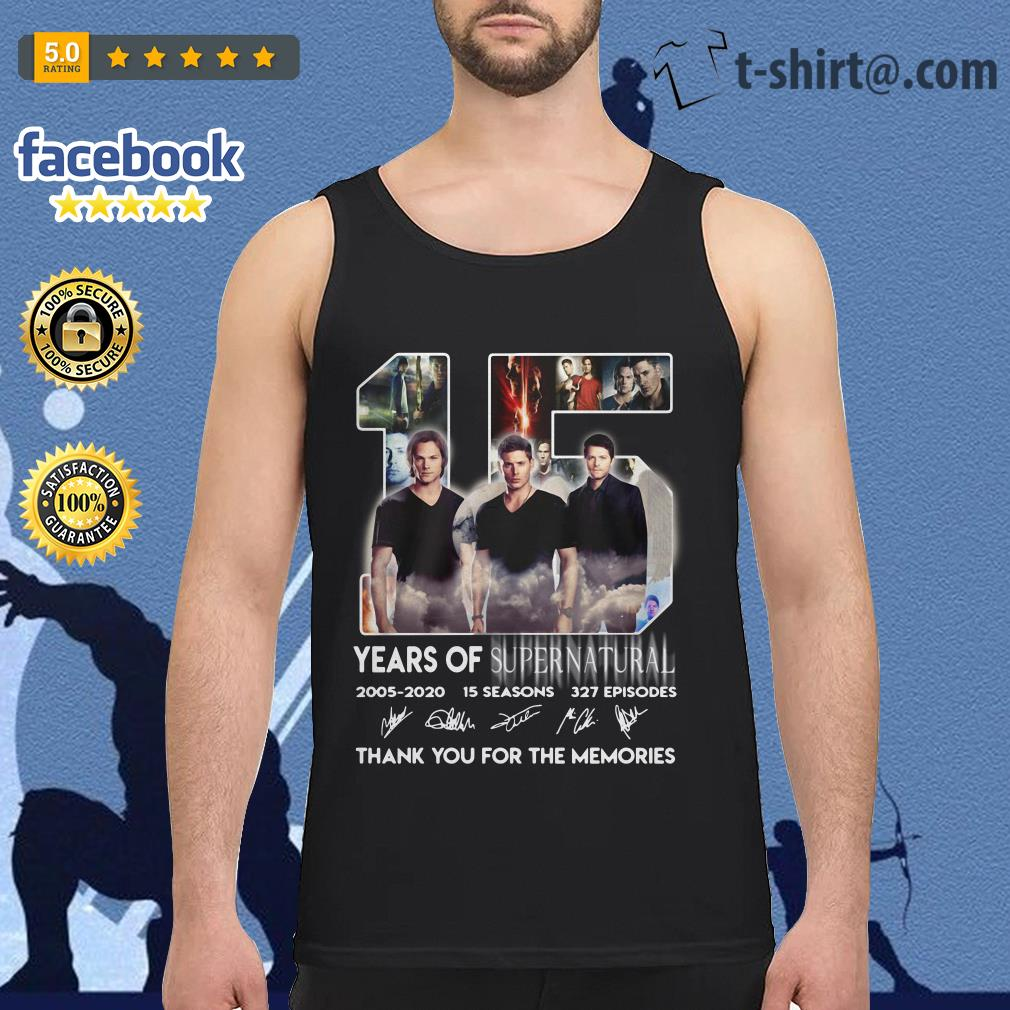 15 Years of Supernatural 2005-2020 15 seasons 327 episodes signature Tank top
