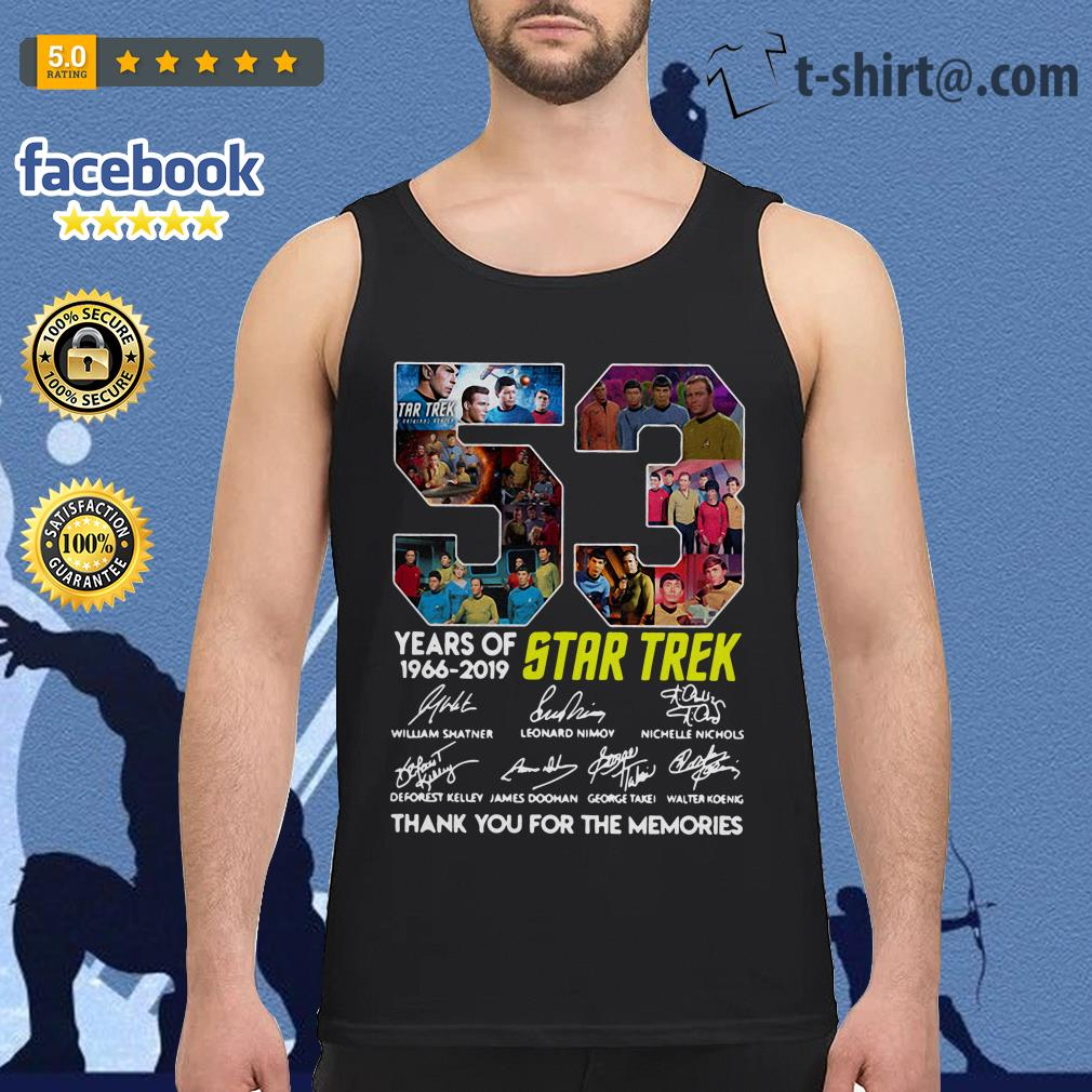 53 Years of Star Trek 1966-2019 thank you for the memories signatures Tank top