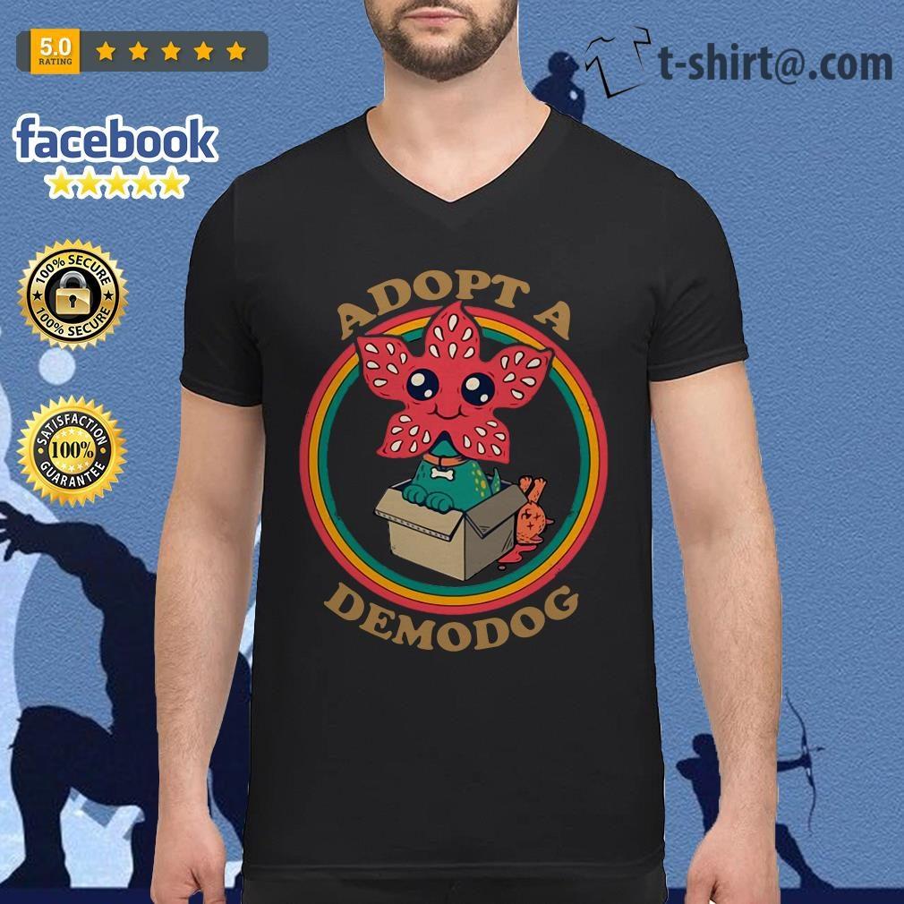 Adopt a Demodog Stranger Things V-neck T-shirt