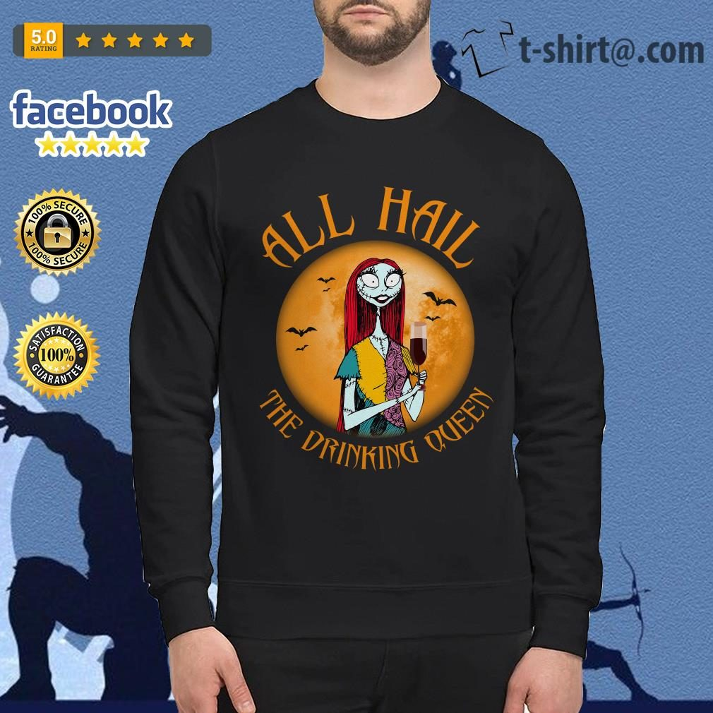 All hall the drinking Queen Nightmare Before Christmas wine Sweater