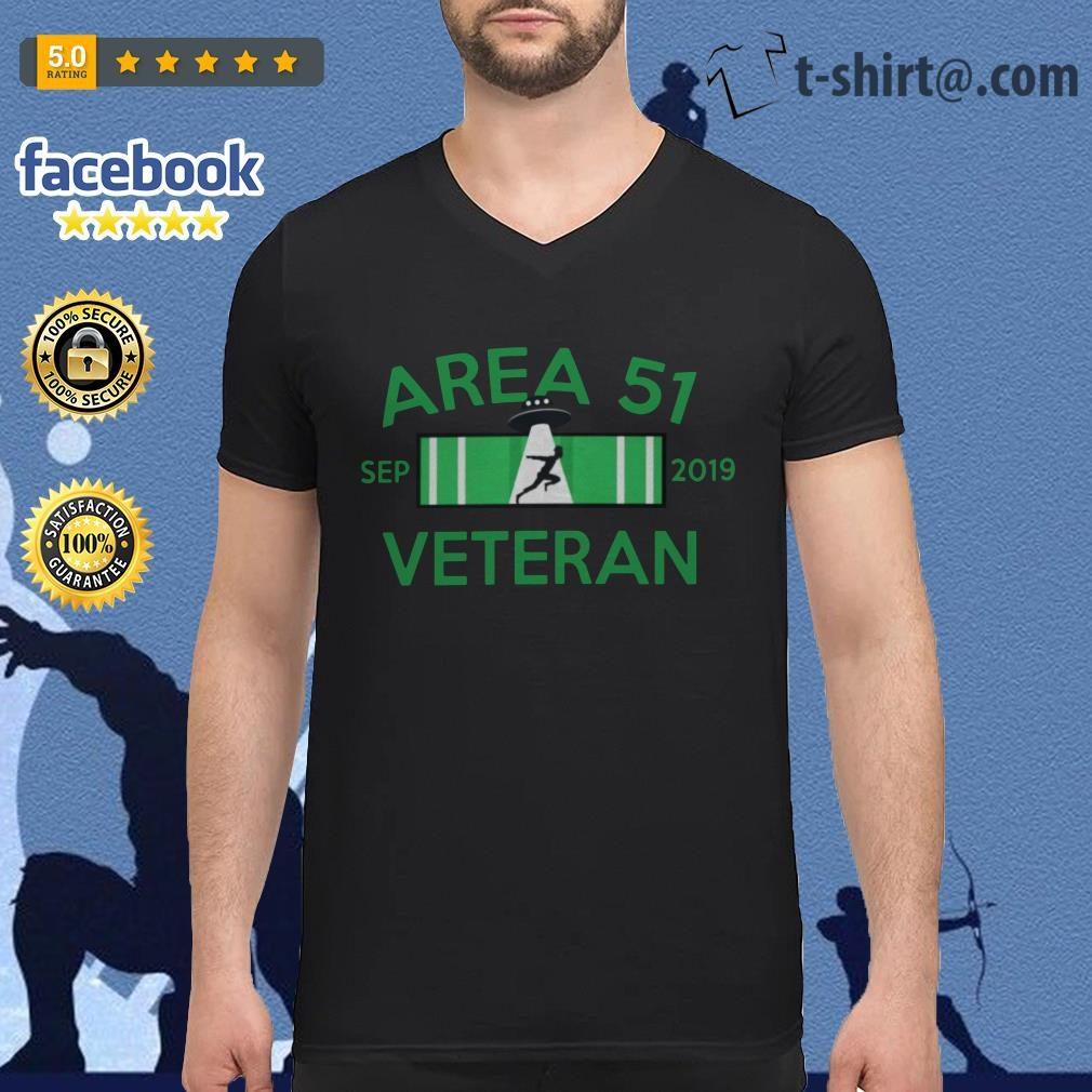 Area 51 Sep 2019 Veteran V-neck T-shirt