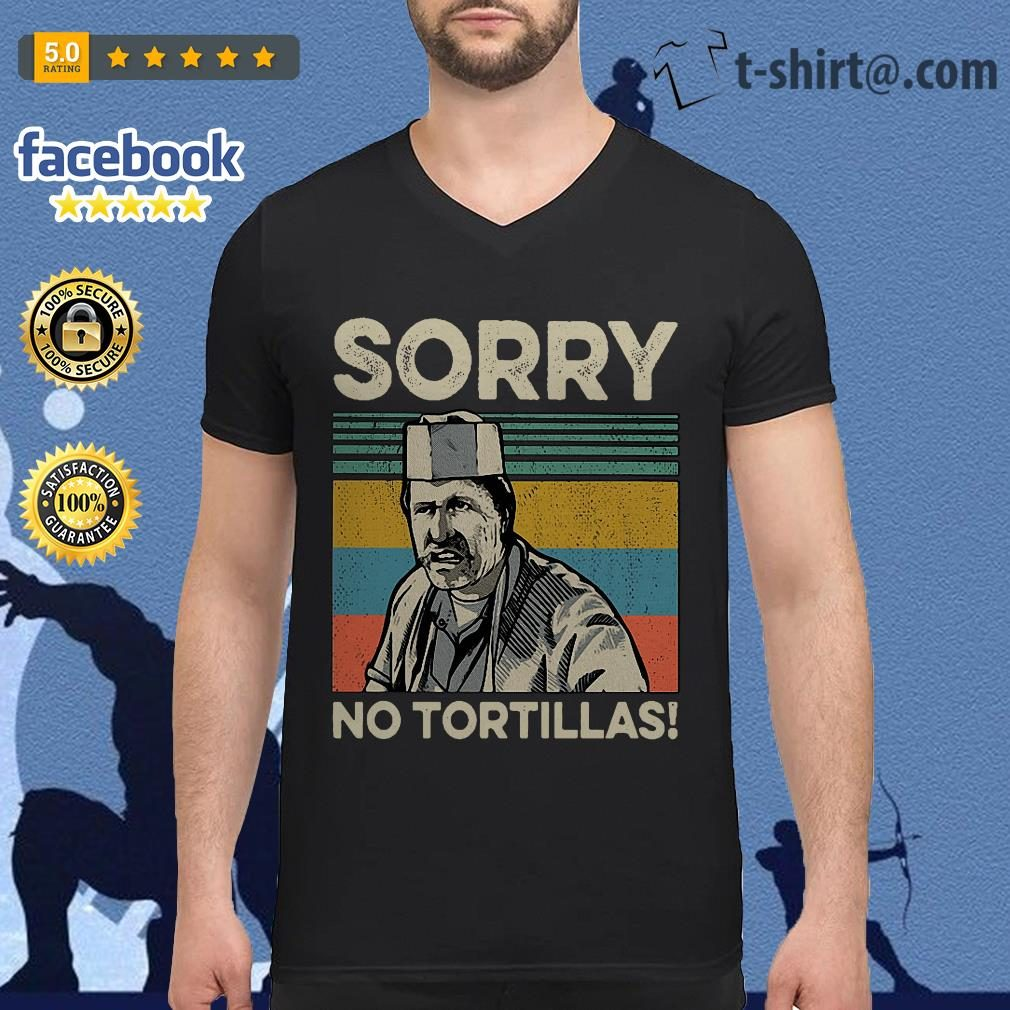 Blood In Blood sorry no Tortillas vintage v-neck t-shirt