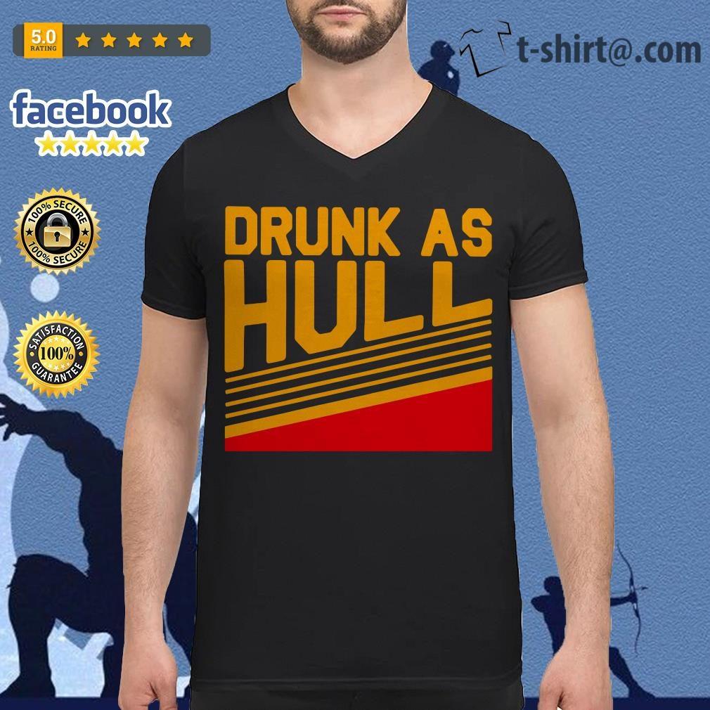 Brett Hull drunk as hull V-neck T-shirt