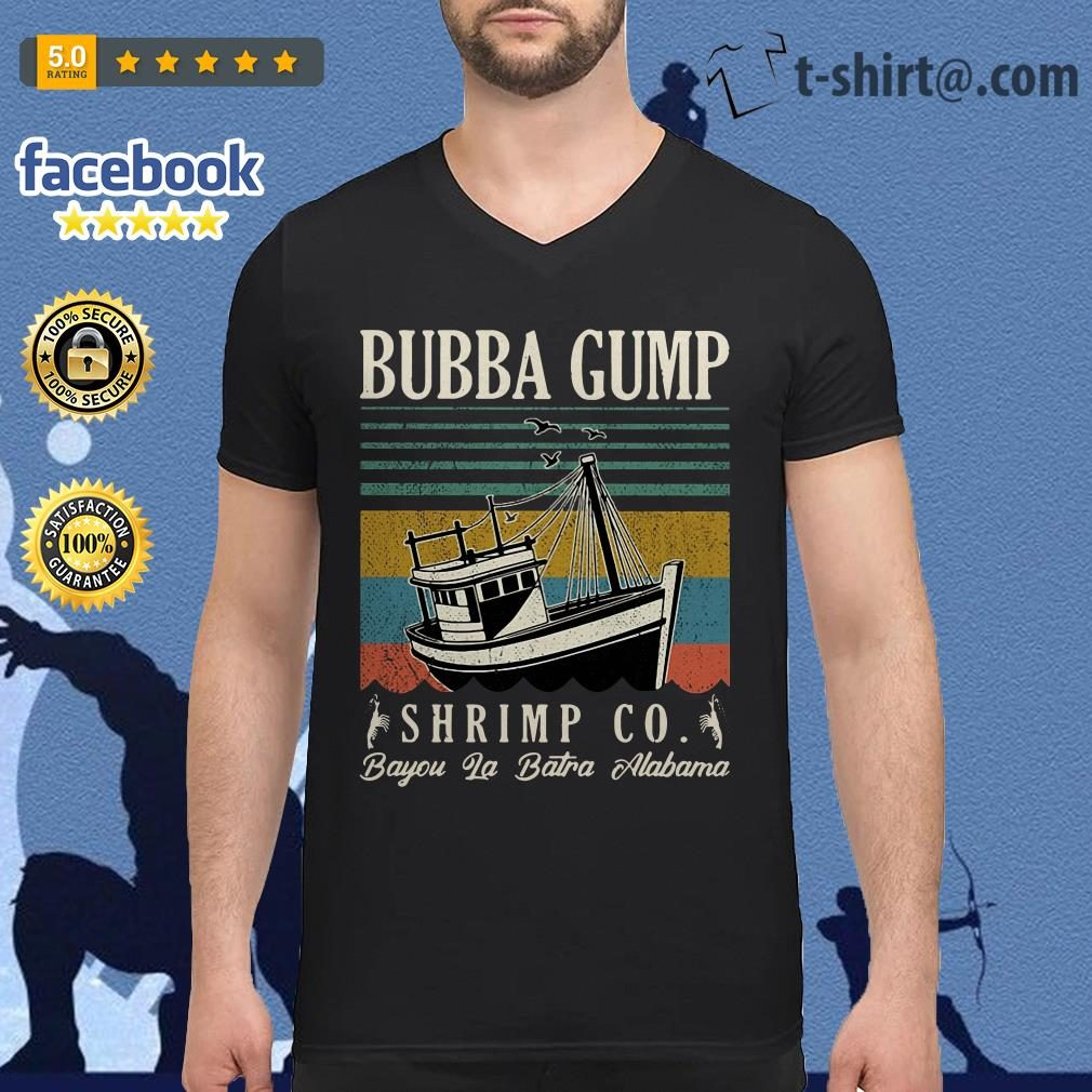 Bubba Gump Shrimp Co. Bayou La Batre Alabama vintage v-neck t-shirt