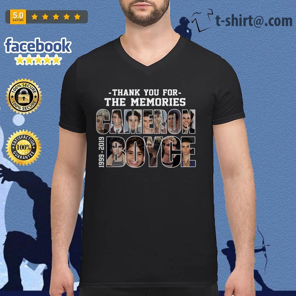 Cameron Boyce 1999-2019 thank you for the memories V-neck T-shirt
