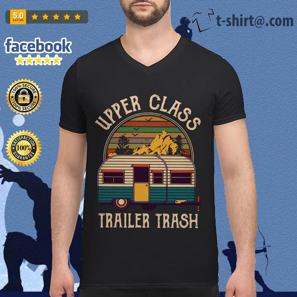 Camping upper class trailer trash vintage V-neck T-shirt