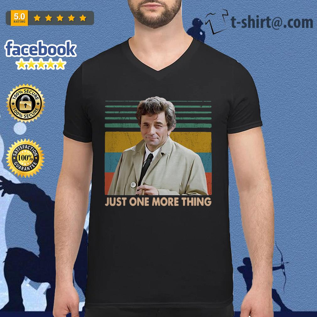 Columbo Just one more thing vintage v-neck t-shirt