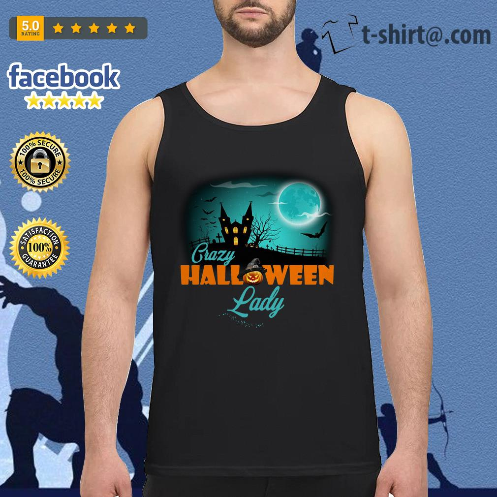 Crazy Halloween lady Tank top