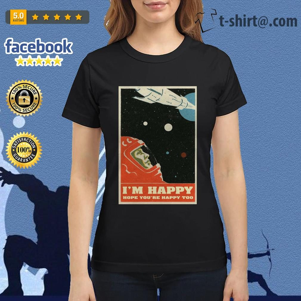 David Bowie I'm happy hope you're happy too poster ladies-tee