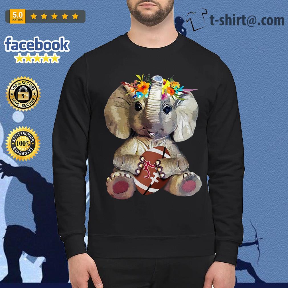Floral elephant Alabama Crimson Tide football Sweater