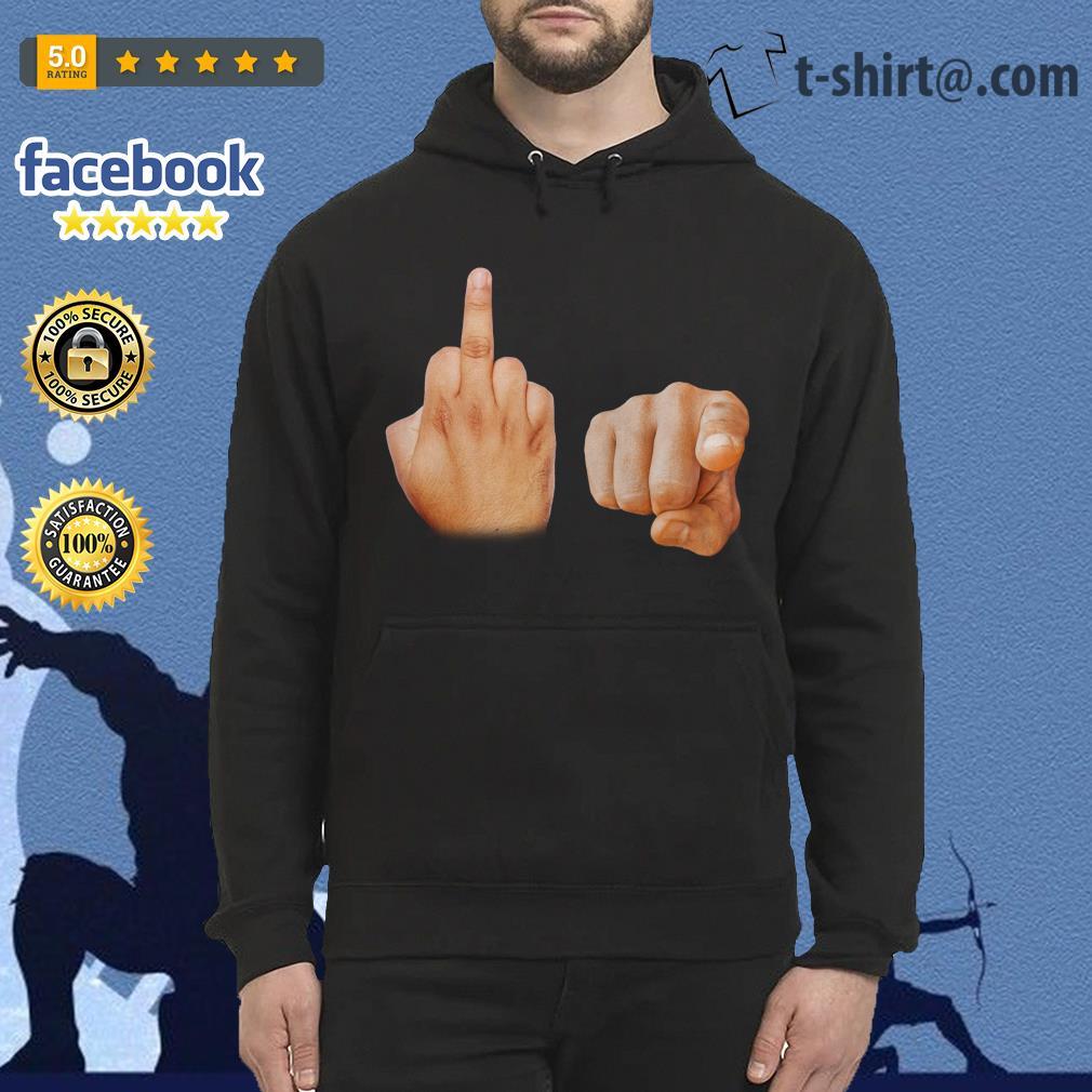 Fuck you hand symbol Hoodie