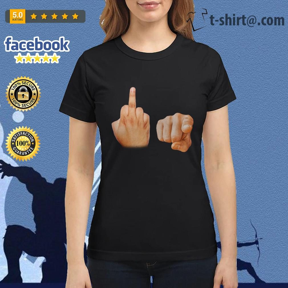 Fuck you hand symbol Ladies Tee