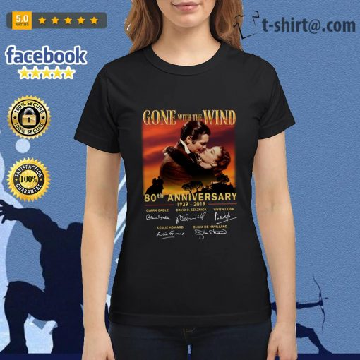 Gone With The Wind 80th Anniversary 1939-2019 signatures Ladies Tee