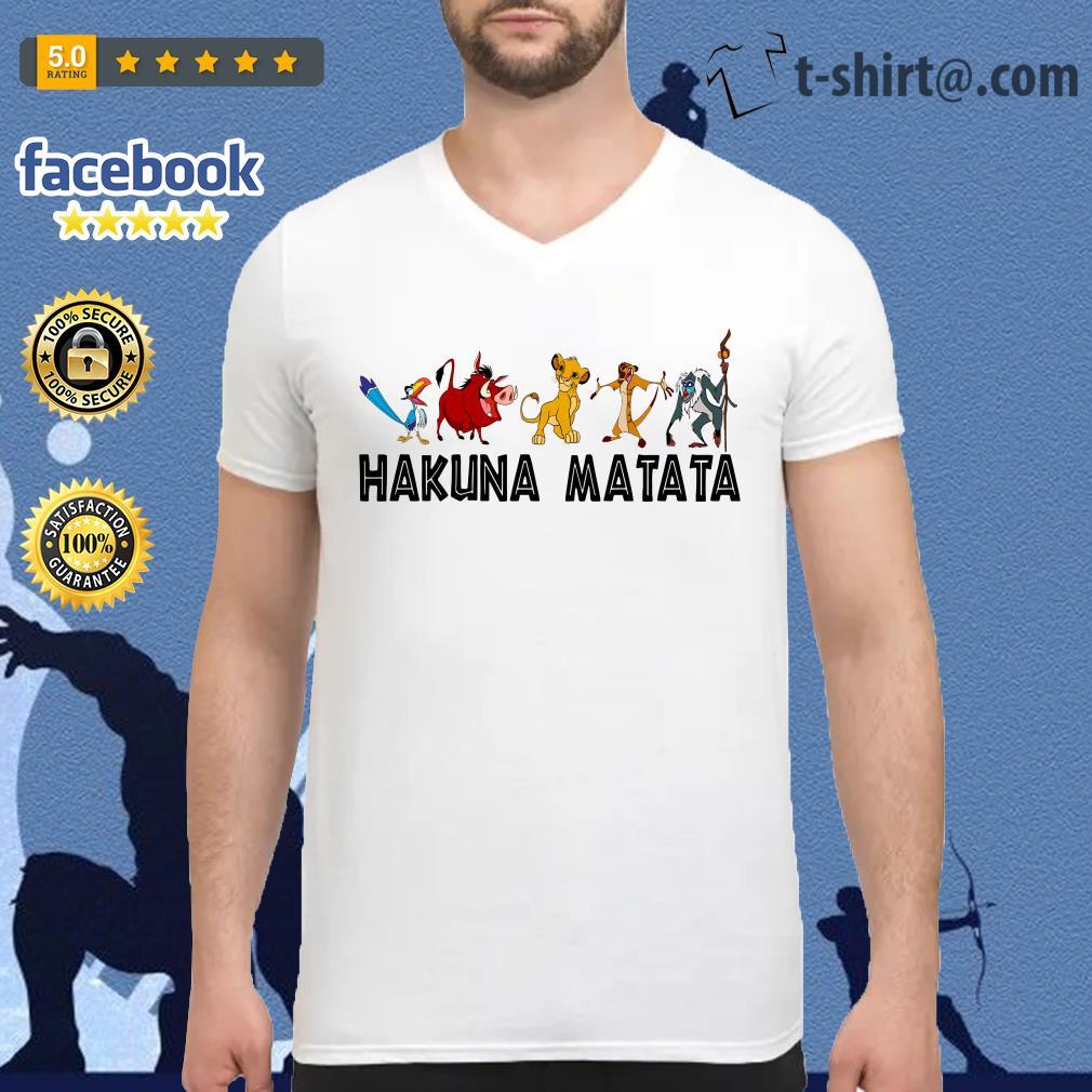 Hakuna Matata Lion King V-neck T-shirt