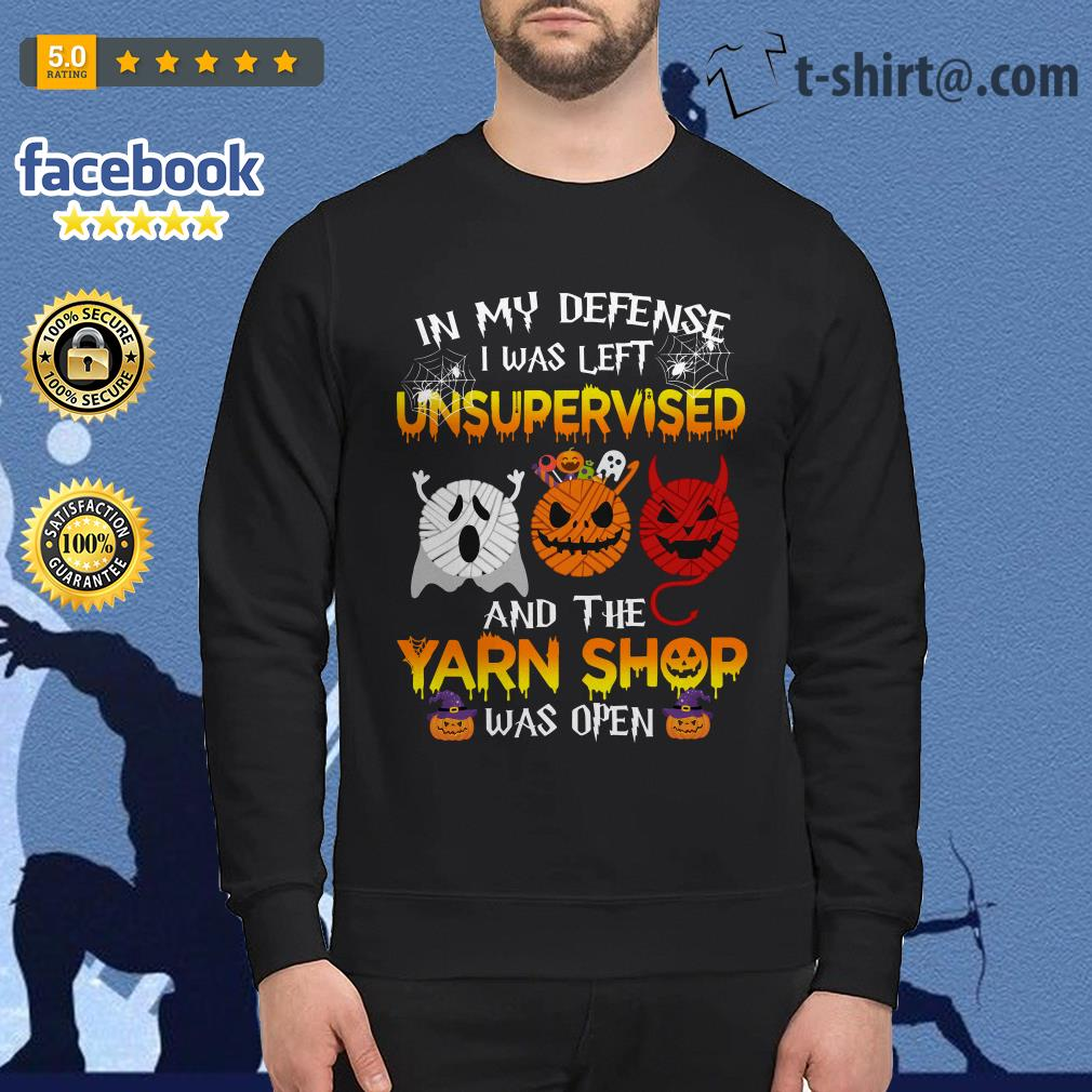Halloween in my defense I was left unsupervised and the yarn shop was open Sweater