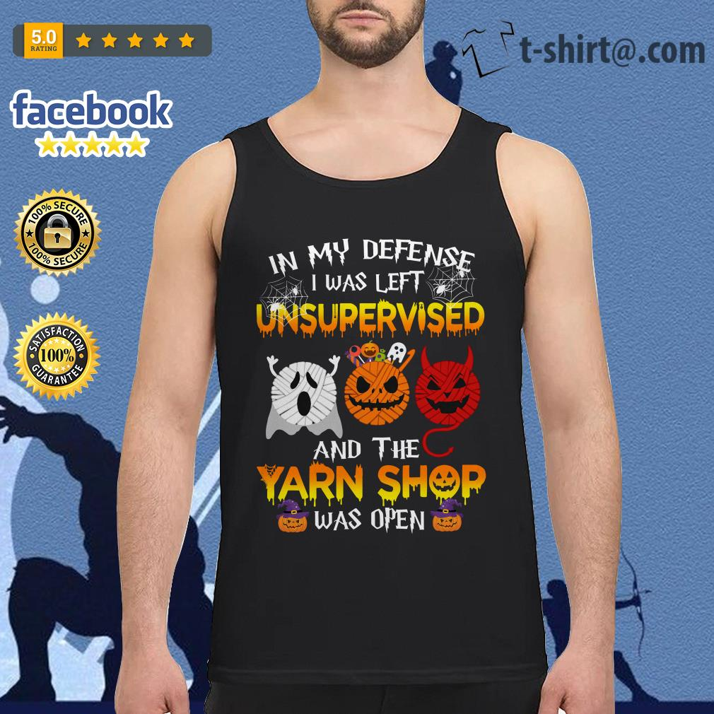 Halloween in my defense I was left unsupervised and the yarn shop was open Tank top