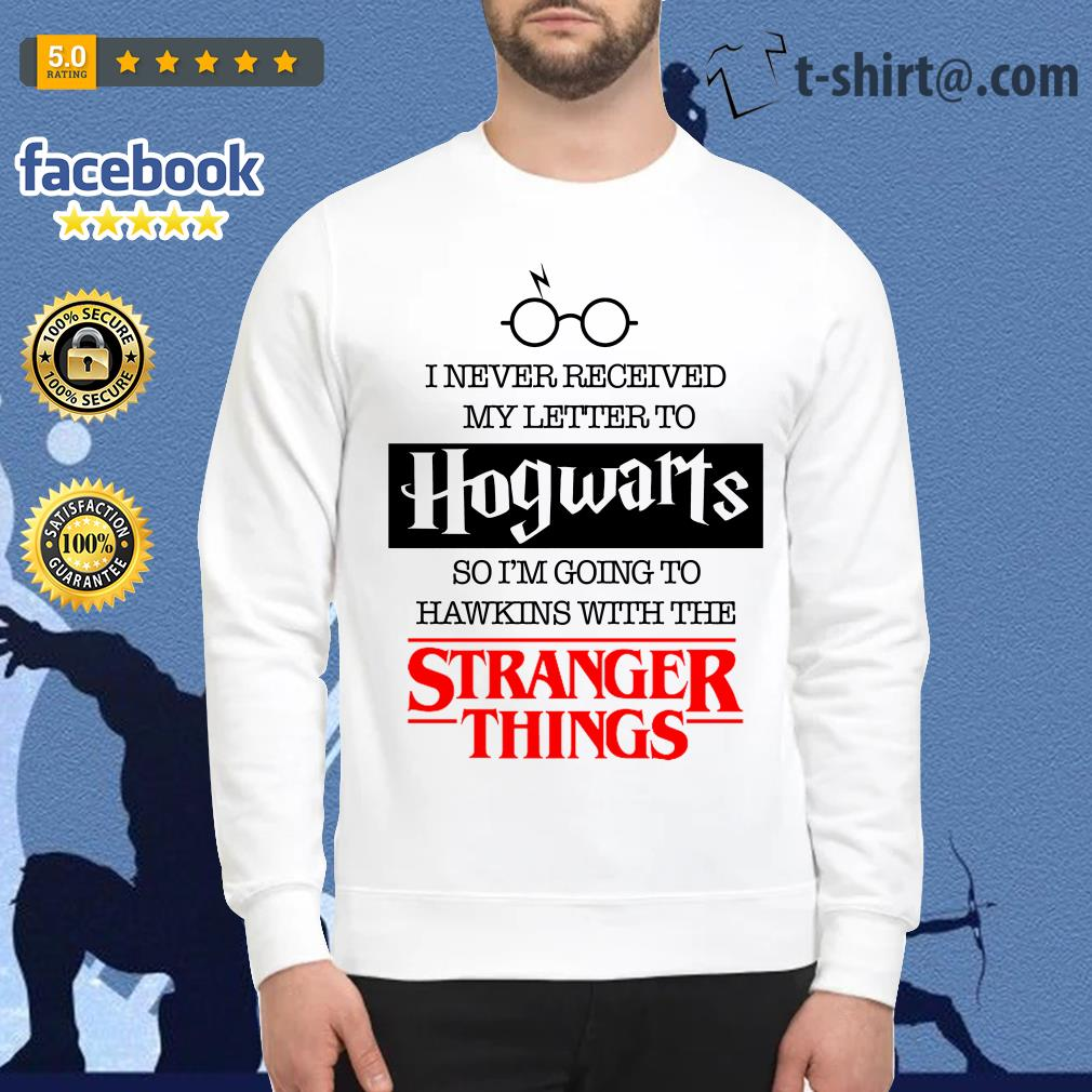 I never received my letter to Hogwarts so I'm going to Hawkins with the Stranger things Sweater