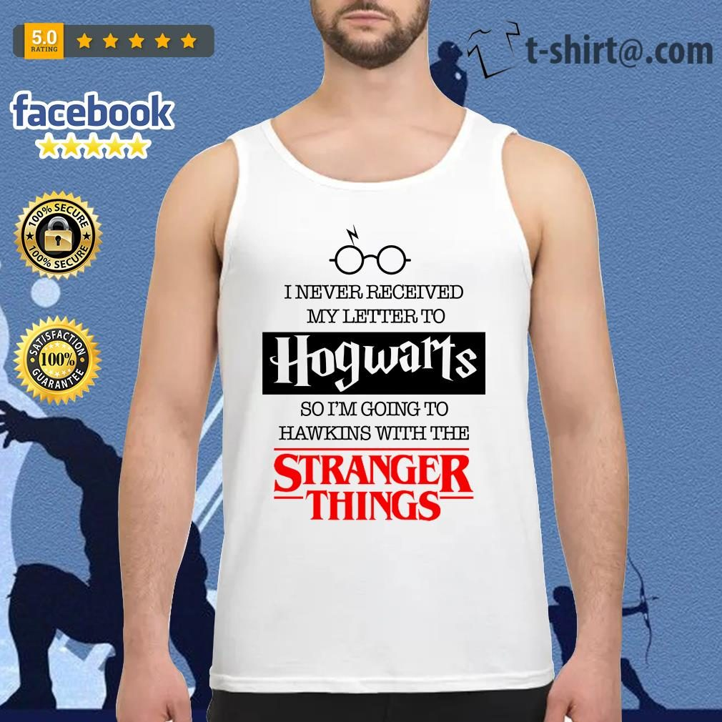 I never received my letter to Hogwarts so I'm going to Hawkins with the Stranger things Tank top
