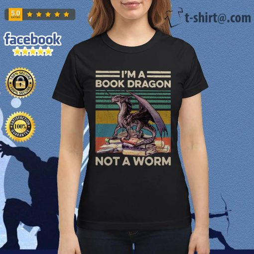 I'm a book dragon not a worm vintage Ladies Tee