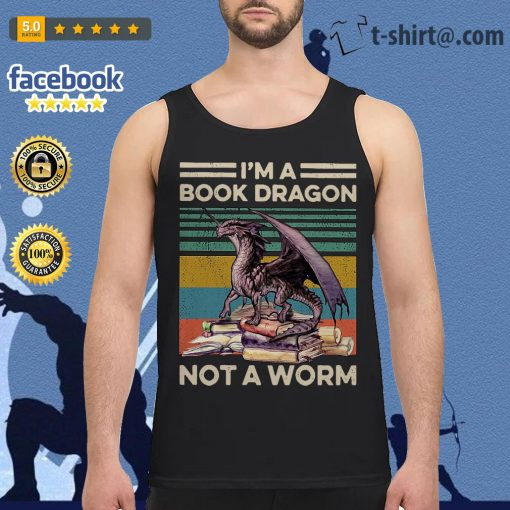 I'm a book dragon not a worm vintage Tank top