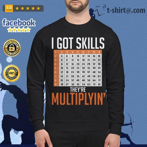 Math teacher I got skills they're multiplyin' Sweater