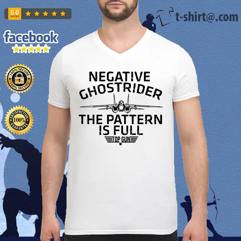 Negative Ghostrider the pattern is full top gun v-neck-t-shirt