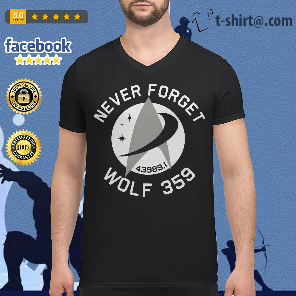Never forget 43989 Wolf 359 V-neck T-shirt