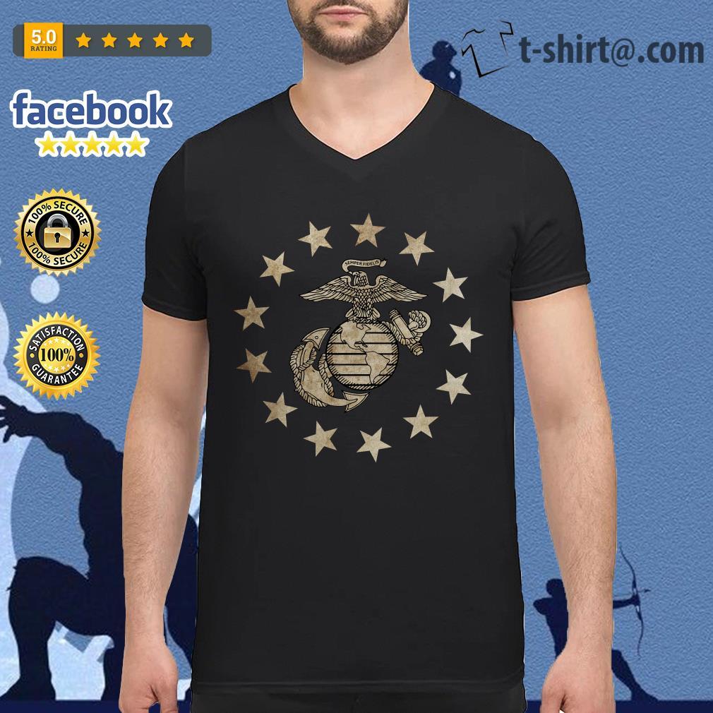 Semper Fidelis U.S. Marine Corps V-neck T-shirt
