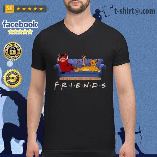 Simba Friends Timon Pumbaa The Lion King V-neck T-shirt