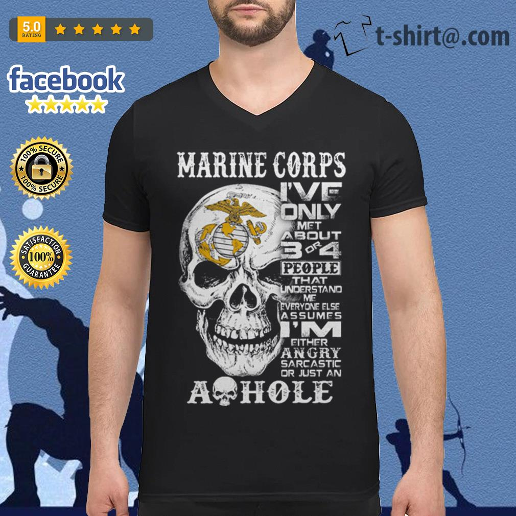 Skull Marine Corps I've only met about 3 or 4 people that understand V-neck T-shirt