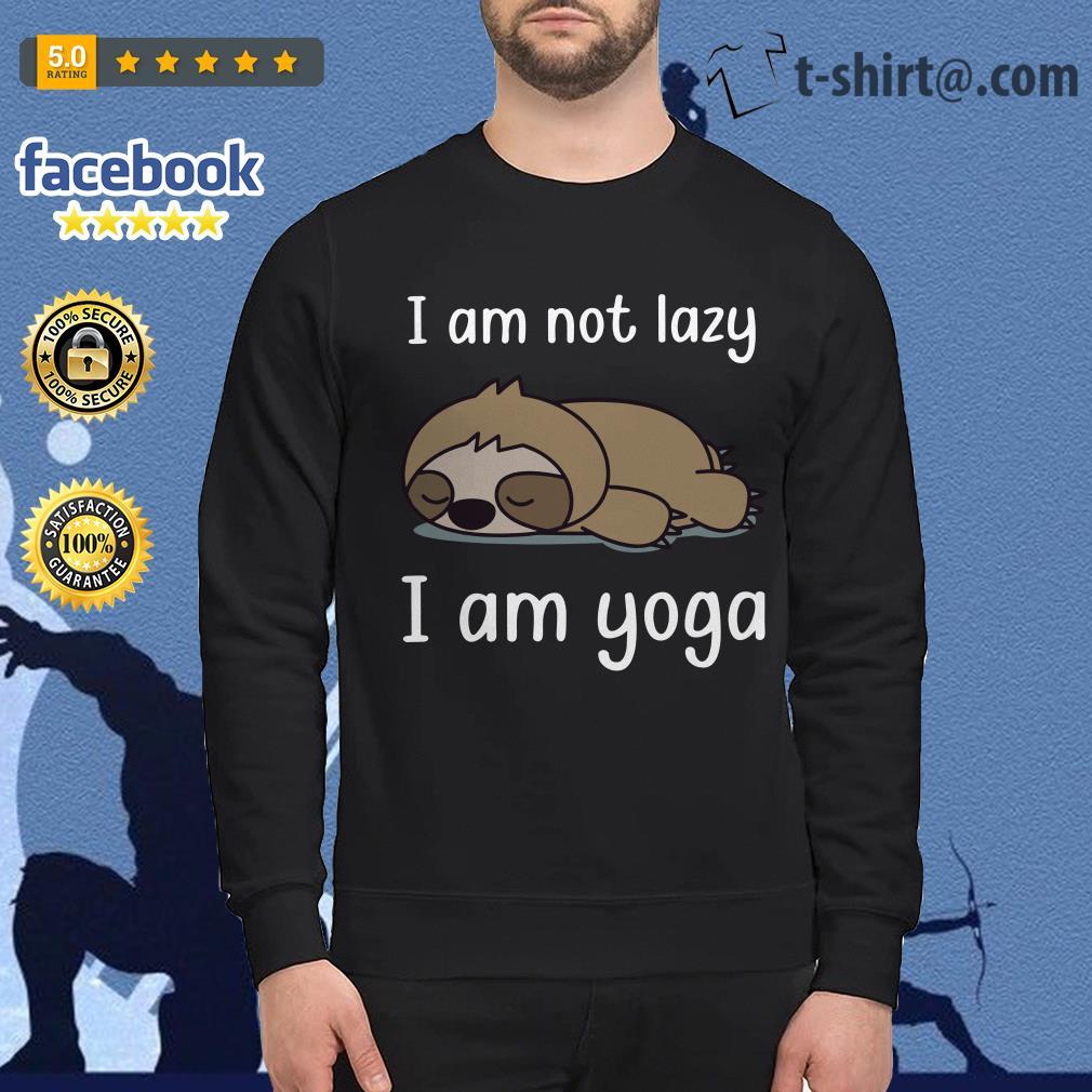 Sloth I am not lady I am yoga Sweater