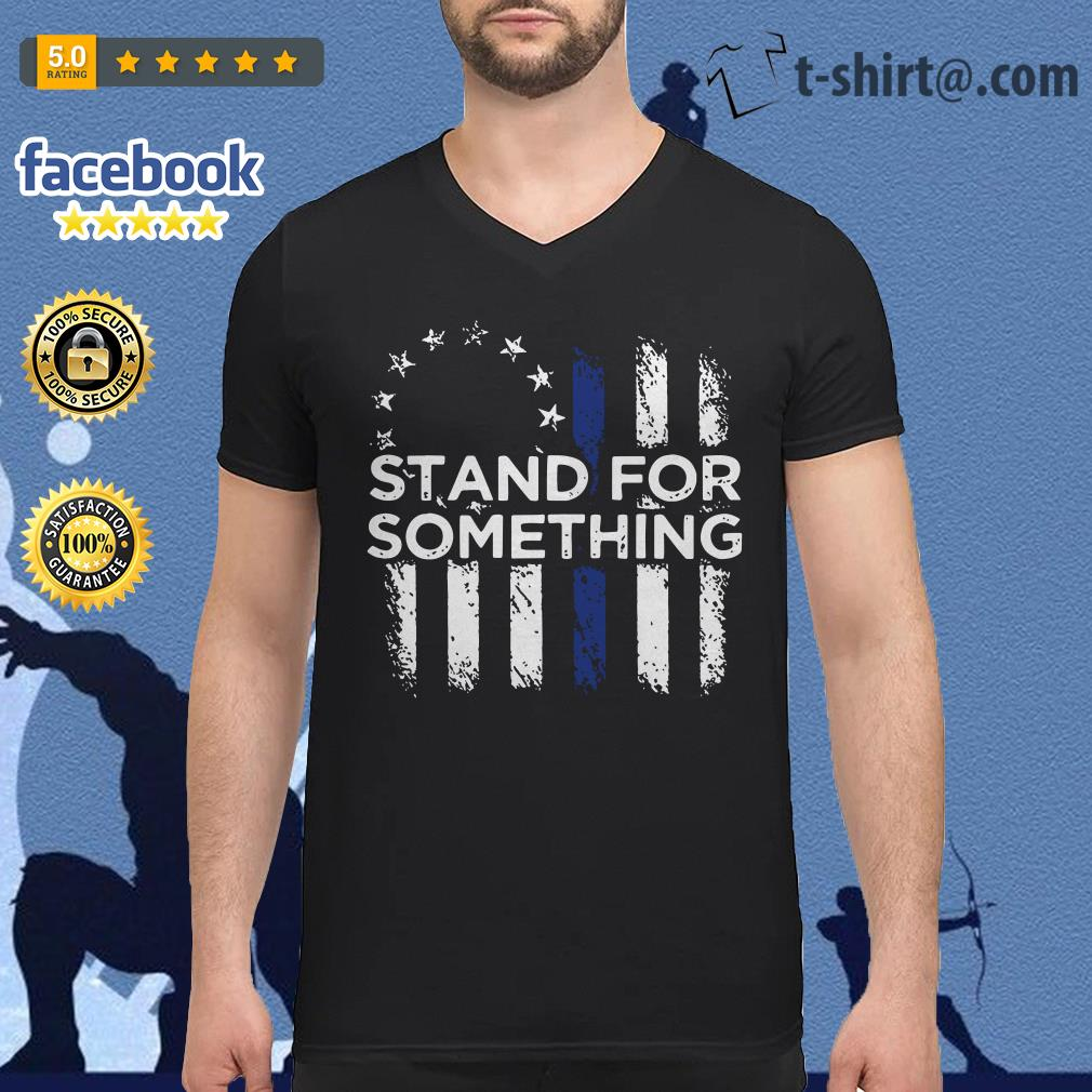 Stand for something Veteran V-neck T-shirt