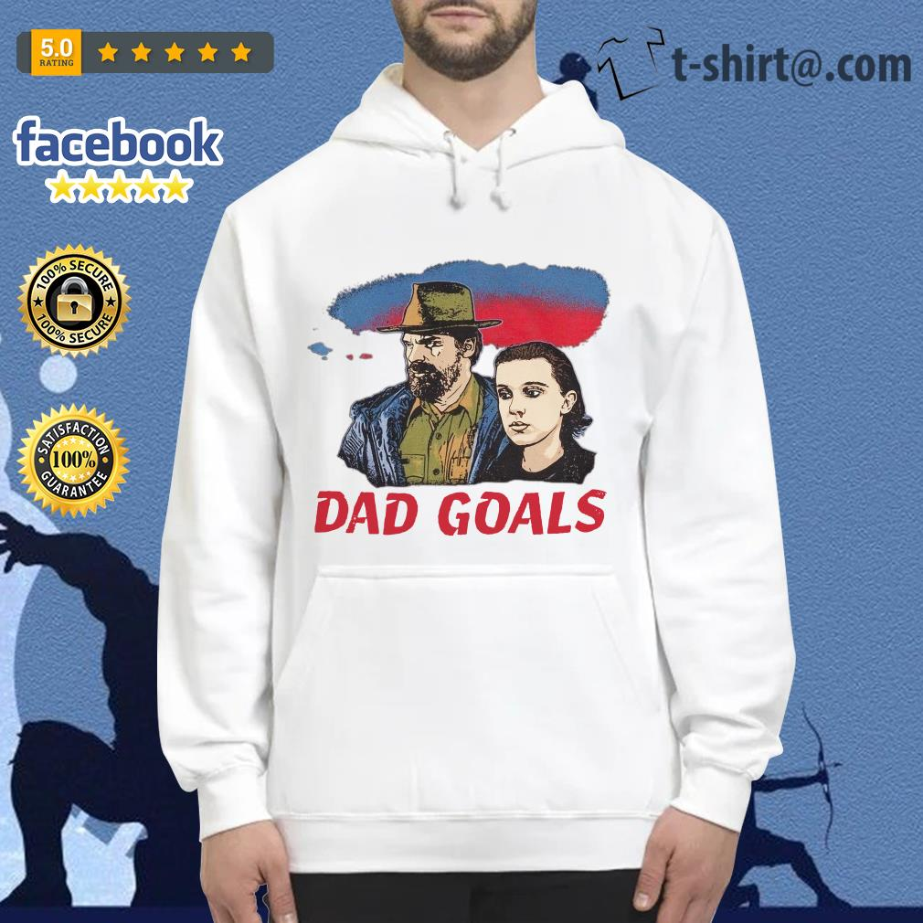 Stranger Things Eleven and Jim Hopper Dad Goals Hoodie