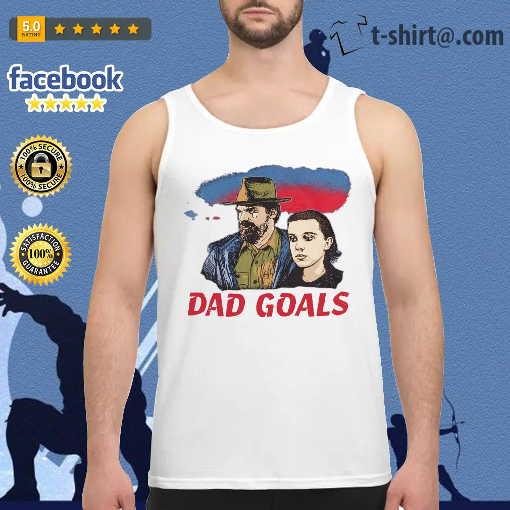 Stranger Things Eleven and Jim Hopper Dad Goals Tank top