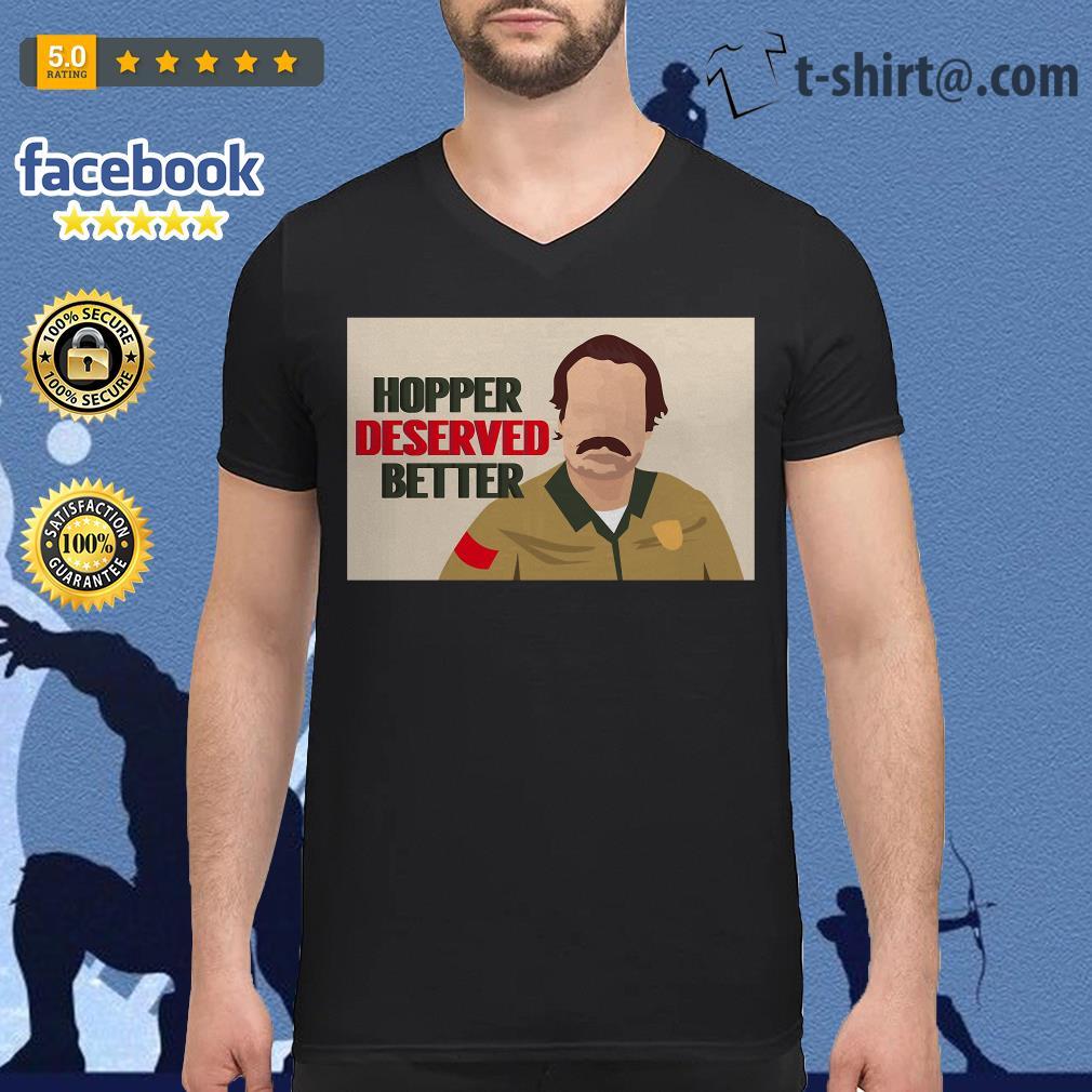 Stranger Things season 3 Hopper deserved better V-neck T-shirt