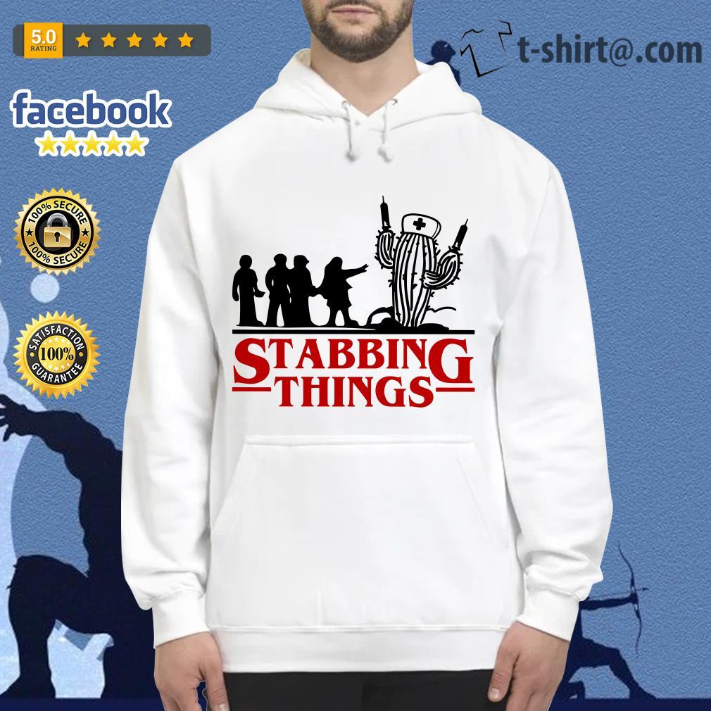 Stranger Things Stabbing Things nurse cactus Hoodie