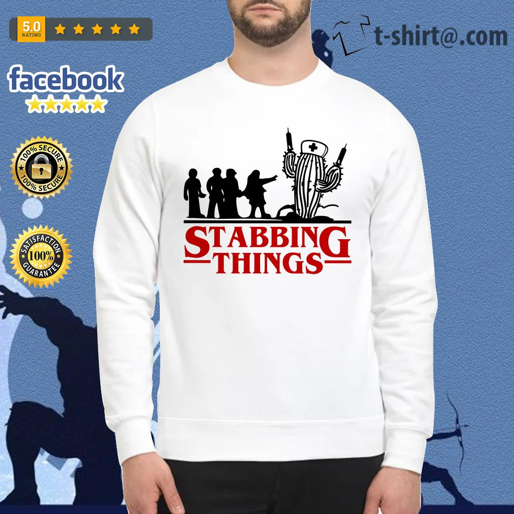 Stranger Things Stabbing Things nurse cactus Sweater