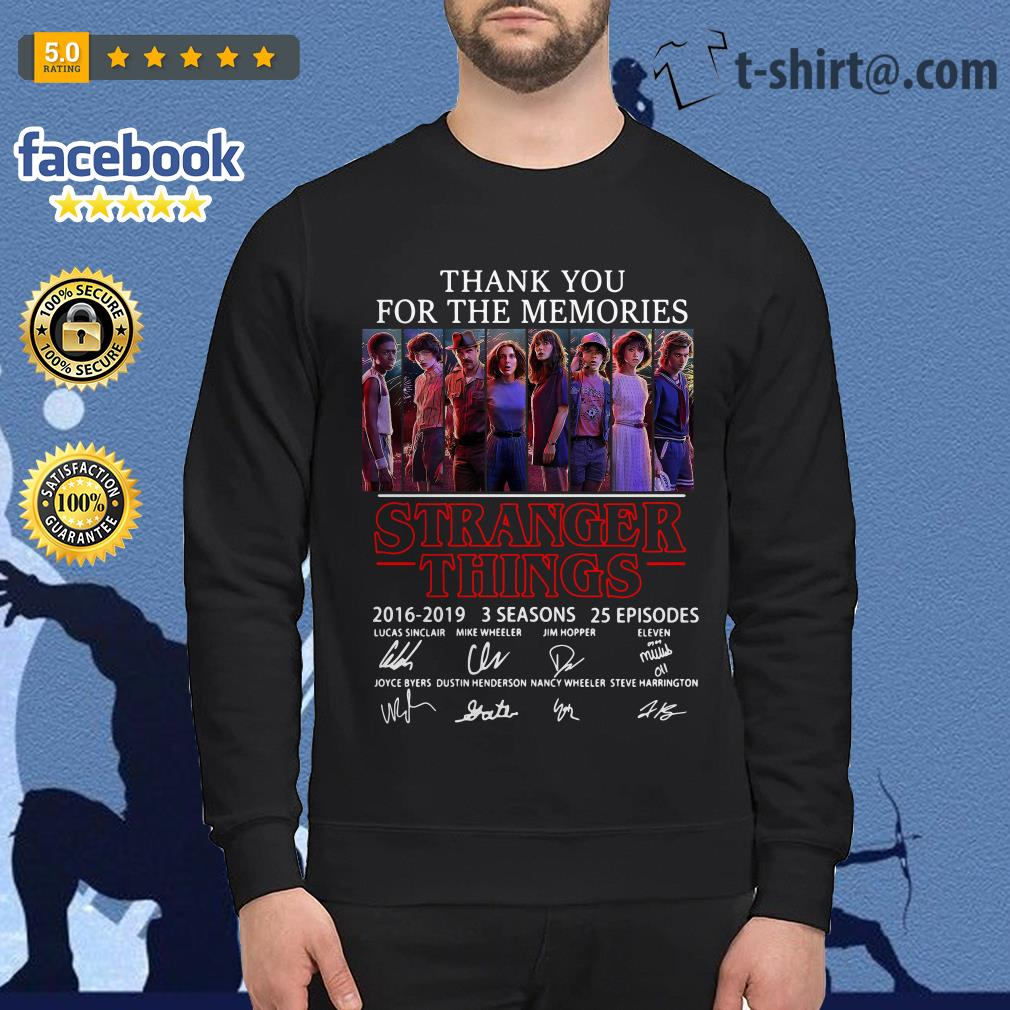Thank you for the memories Stranger Things 2016-2019 signatures Sweater
